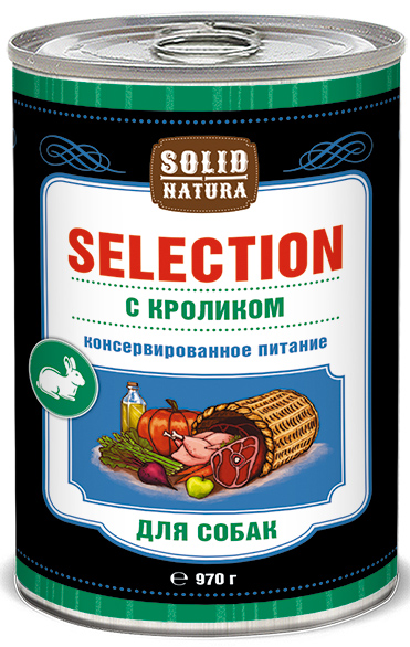 Влажный корм для собак Solid Natura Selection Кролик 097 кг.