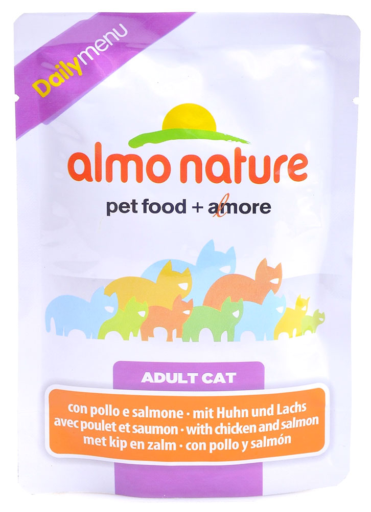 Влажный корм для кошек Almo Nature Daily Menu Adult Cat with Chicken and Salmon 0,07 кг фото