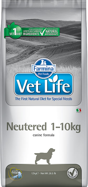 Сухой корм Farmina VET LIFE Canine Neutered 1-10kg диета для собак 2 кг фото