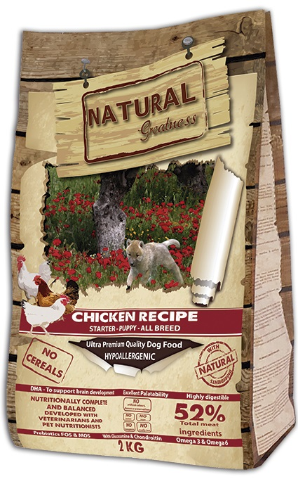 Сухой корм для щенков Natural Greatness Chicken Recipe Starter Puppy Junior 2 кг фото