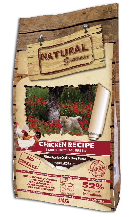 Сухой корм для щенков Natural Greatness Chicken Recipe Starter Puppy Junior 6 кг