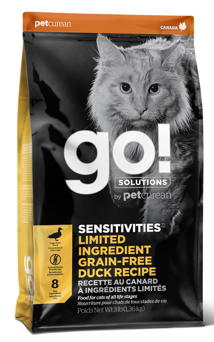 Сухой корм для кошек Go! Sensitivity + Shine Duck Cat Recipe Limited Ingredient Diet Grain Free 7,26 кг фото