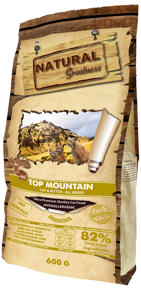 Сухой корм для кошек Natural Greatness Top Mountain Recipe 0,6 кг фото