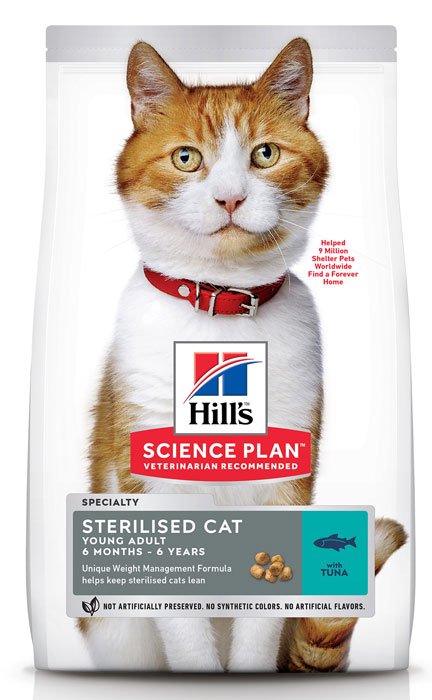 Сухой корм для кошек Hills Science Plan Sterilised Cat Young Adult Tuna 10 кг фото