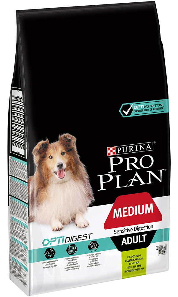 Сухой корм для собак Purina Pro Plan Medium Adult Sensetive Digestion 1,5 кг фото